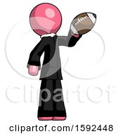 Pink Clergy Man Holding Football Up