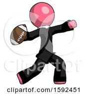 Pink Clergy Man Throwing Football