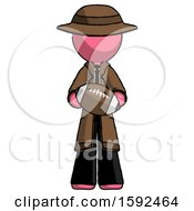 Pink Detective Man Giving Football To You