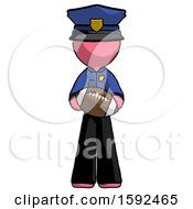 Pink Police Man Giving Football To You