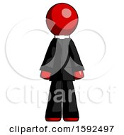 Red Clergy Man Standing Facing Forward