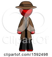 Red Detective Man Standing Facing Forward