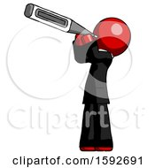 Red Clergy Man Thermometer In Mouth