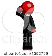 Red Clergy Man Soldier Salute Pose