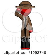 Red Detective Man Soldier Salute Pose