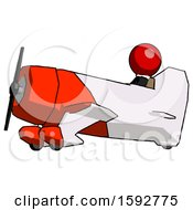 Red Clergy Man In Geebee Stunt Aircraft Side View