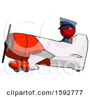 Red Police Man In Geebee Stunt Aircraft Side View