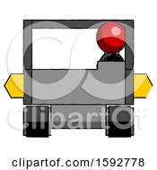 Red Clergy Man Driving Amphibious Tracked Vehicle Front View