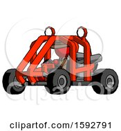 Red Detective Man Riding Sports Buggy Side Angle View