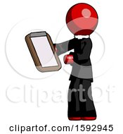 Red Clergy Man Reviewing Stuff On Clipboard