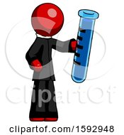 Red Clergy Man Holding Large Test Tube