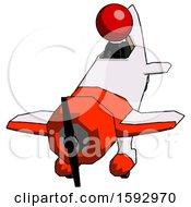Red Clergy Man In Geebee Stunt Plane Descending Front Angle View