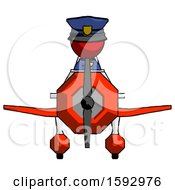 Red Police Man In Geebee Stunt Plane Front View