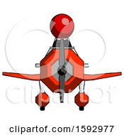 Red Clergy Man In Geebee Stunt Plane Front View