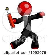 Red Clergy Man Throwing Dynamite