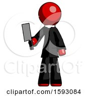 Red Clergy Man Holding Meat Cleaver