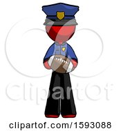 Red Police Man Giving Football To You