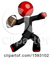 Red Clergy Man Throwing Football