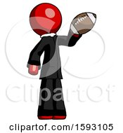 Red Clergy Man Holding Football Up