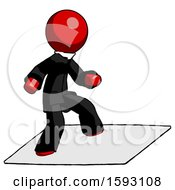 Red Clergy Man On Postage Envelope Surfing