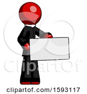 Red Clergy Man Presenting Large Envelope