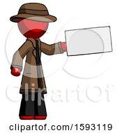 Red Detective Man Holding Large Envelope