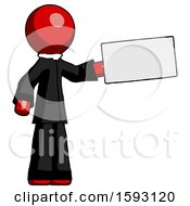Red Clergy Man Holding Large Envelope