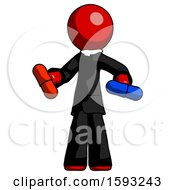 Red Clergy Man Red Pill Or Blue Pill Concept