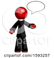 Red Clergy Man With Word Bubble Talking Chat Icon