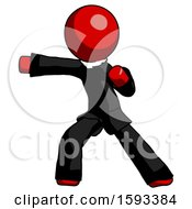Red Clergy Man Martial Arts Punch Left