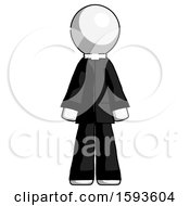 White Clergy Man Standing Facing Forward