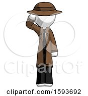 White Detective Man Soldier Salute Pose