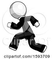 White Clergy Man Running Fast Left