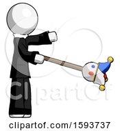 White Clergy Man Holding Jesterstaff I Dub Thee Foolish Concept
