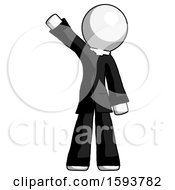 White Clergy Man Waving Emphatically With Right Arm