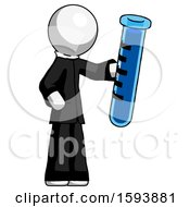 White Clergy Man Holding Large Test Tube