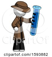 White Detective Man Holding Large Test Tube