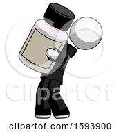 White Clergy Man Holding Large White Medicine Bottle