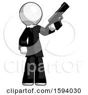 White Clergy Man Holding Handgun