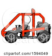 White Clergy Man Riding Sports Buggy Side View