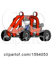 White Police Man Riding Sports Buggy Side Angle View