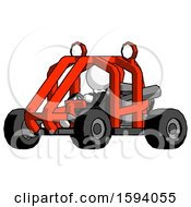 White Clergy Man Riding Sports Buggy Side Angle View