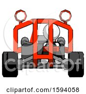 White Clergy Man Riding Sports Buggy Front View
