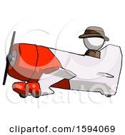 White Detective Man In Geebee Stunt Aircraft Side View