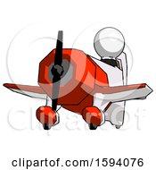 White Clergy Man Flying In Geebee Stunt Plane Viewed From Below