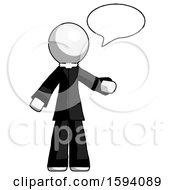 White Clergy Man With Word Bubble Talking Chat Icon