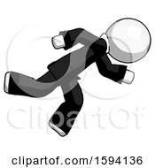 White Clergy Man Running While Falling Down