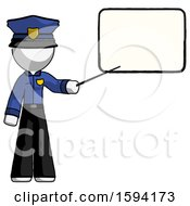 White Police Man Giving Presentation In Front Of Dry Erase Board