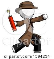 White Detective Man Throwing Dynamite