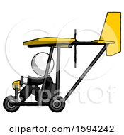 White Clergy Man In Ultralight Aircraft Side View